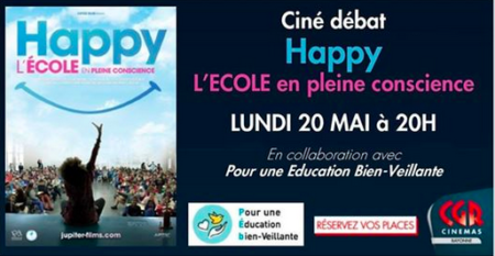 CINE DEBAT: HAPPY, L'ECOLE EN PLEINE CONSCIENCE
